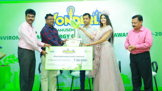 1st prize winner Shree Swaminarayan Gurukul Hyderabad was awarded a cash prize of Rs. 50 000-.