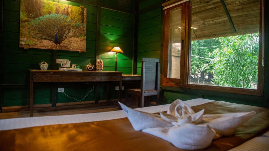 Stay near Panna Tiger Reserve 4, Luxury Huts, Tendu Leaf Jungle Resort