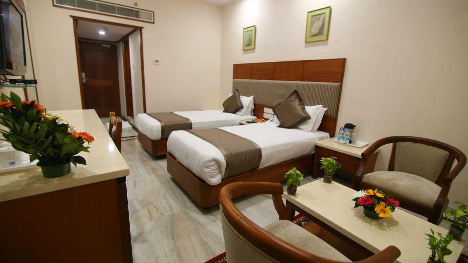 Bussiness Club Twin Beds at Hotel Daspalla Executive Court Vishakapatnam 4