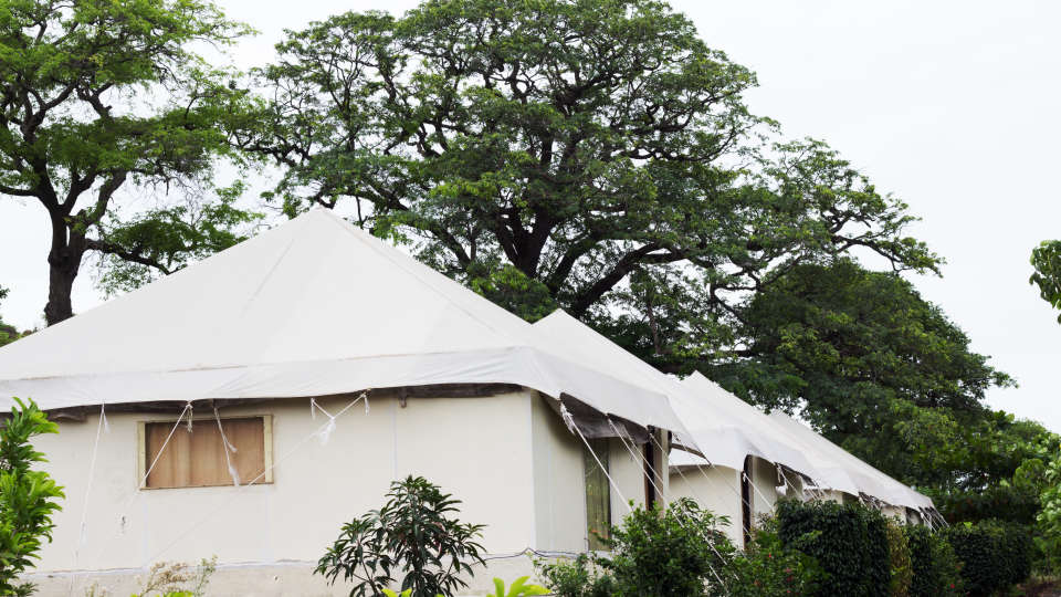Royal Tent of  Fort Jadhavgadh Heritage Resort Hotel Pune