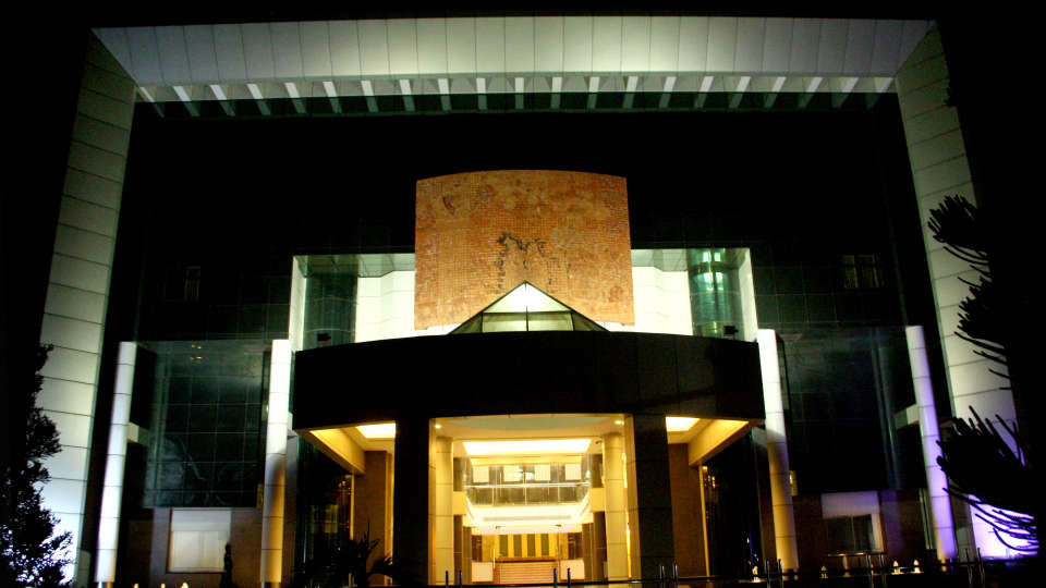 exterior of gokulam park and convention centre kochi