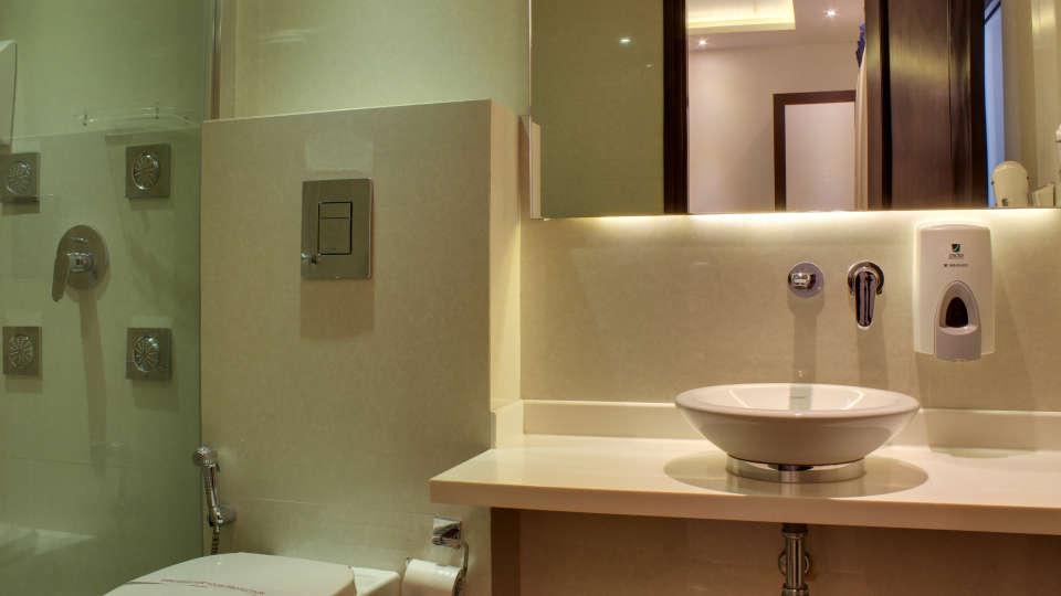 Washroom Grand budget hotels in paharganj  Godwin New Delhi 6
