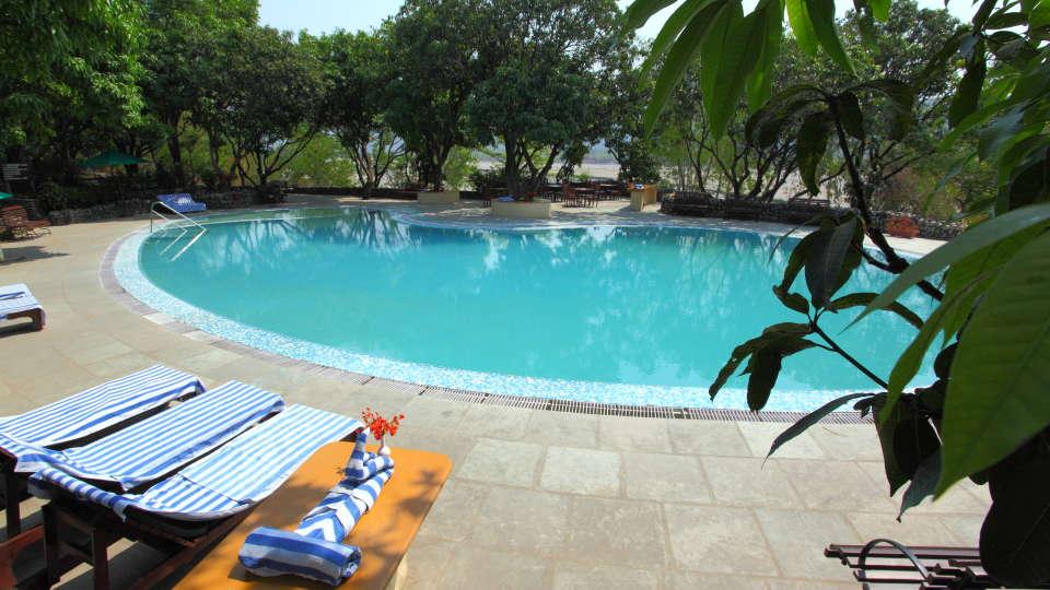 Swimming Pool at Infinity Resorts Corbett, Resort Facilities in Corbett 7
