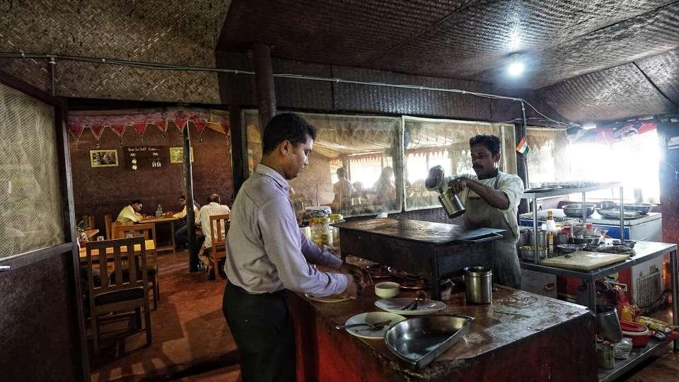 Cafe in Konark 3, Lotus Eco Beach Resort, Hotels in Konark