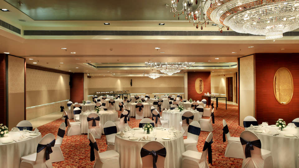 Banquet hall at Mahagun Sarovar Portico Vaishali, best hotels in vaishali