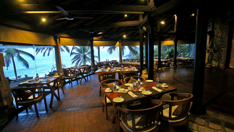 Restaurant at Niraamaya Retreats Surya Samudra, Kovalam Beach Resort 3