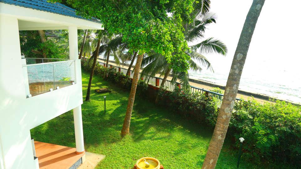Kappad sea view from the balcony Renai Kappad Beach Resort