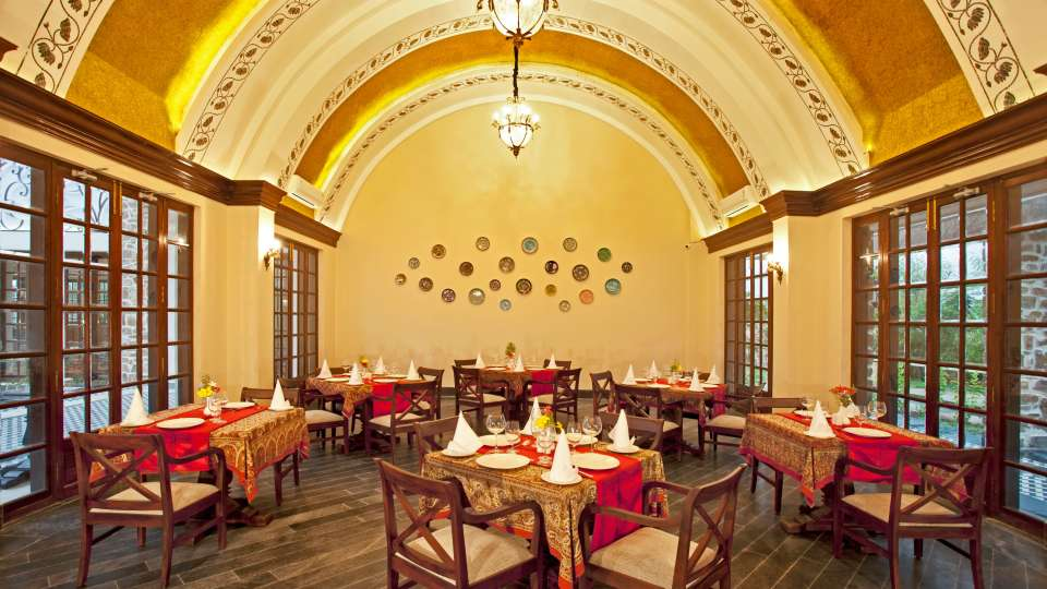 Restaurant at Tree Leaf Kipling Lodge Ranthambore