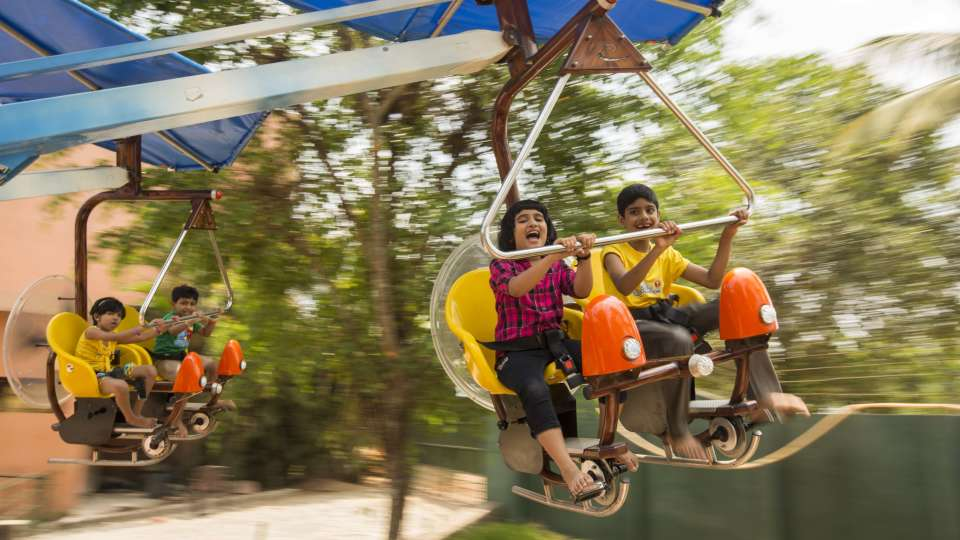 Kids Rides - Magic Plane at  Wonderla Kochi Amusement Park