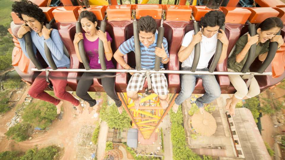 Thriller Rides - Thunder Fall at Wonderla Kochi Amusement Park