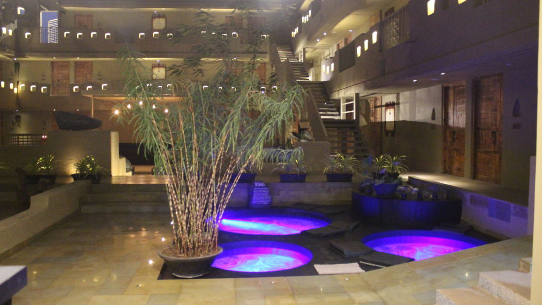 Courtyard Entrance Night