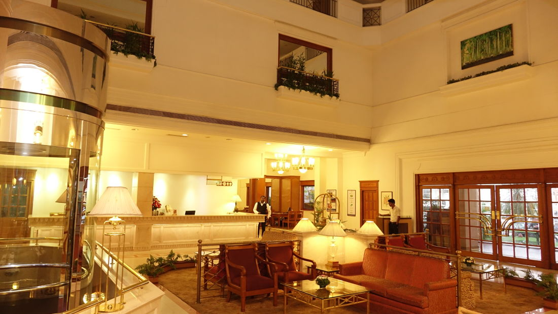 Lobby at our hotel in Cochin, Abad Atrium, Cochin-4