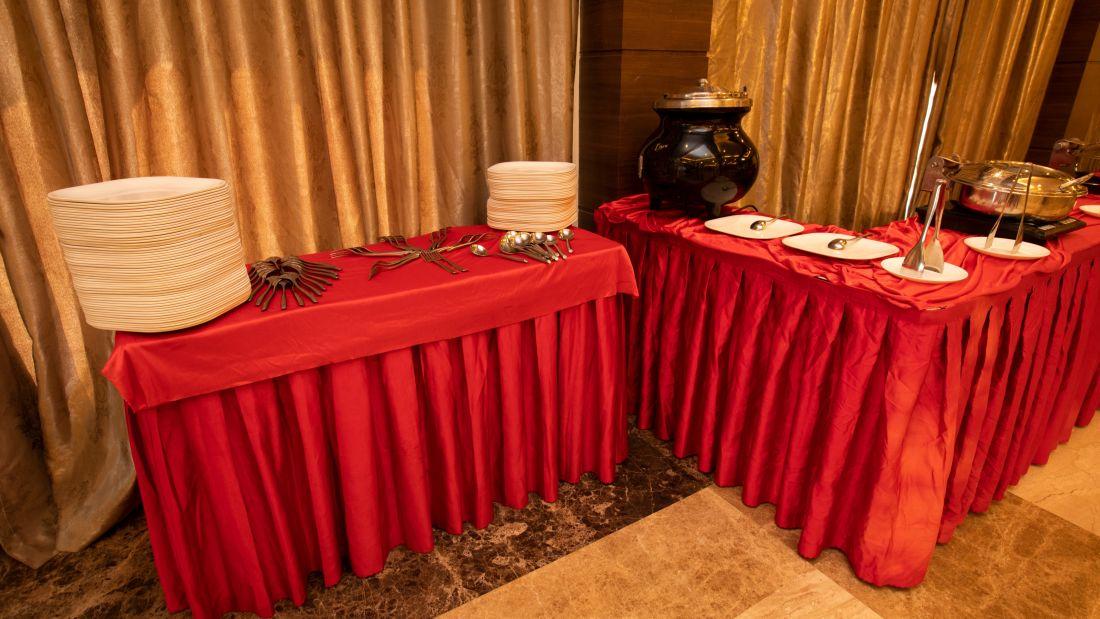 lotus banquet hall food counter 1