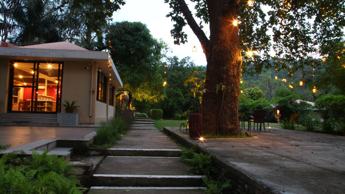 Facade of Lulung Aranya Nivas