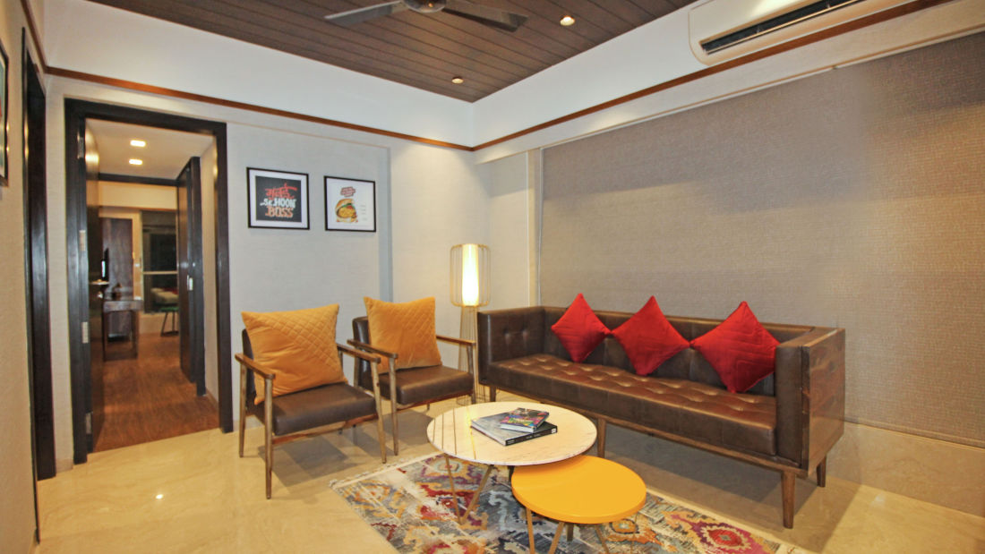 Living Room, Serviced Apartments in Khar, Rooms in Khar, Hotels in Khar