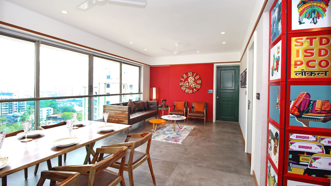 Living Room 5, Serviced Apartments in Khar, Rooms in Khar, Hotels in Khar