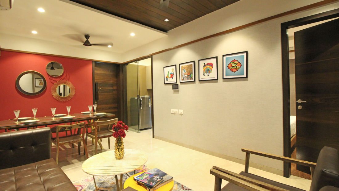 Living and Dining, Serviced Apartments in Khar, Rooms in Khar, Hotels in Khar