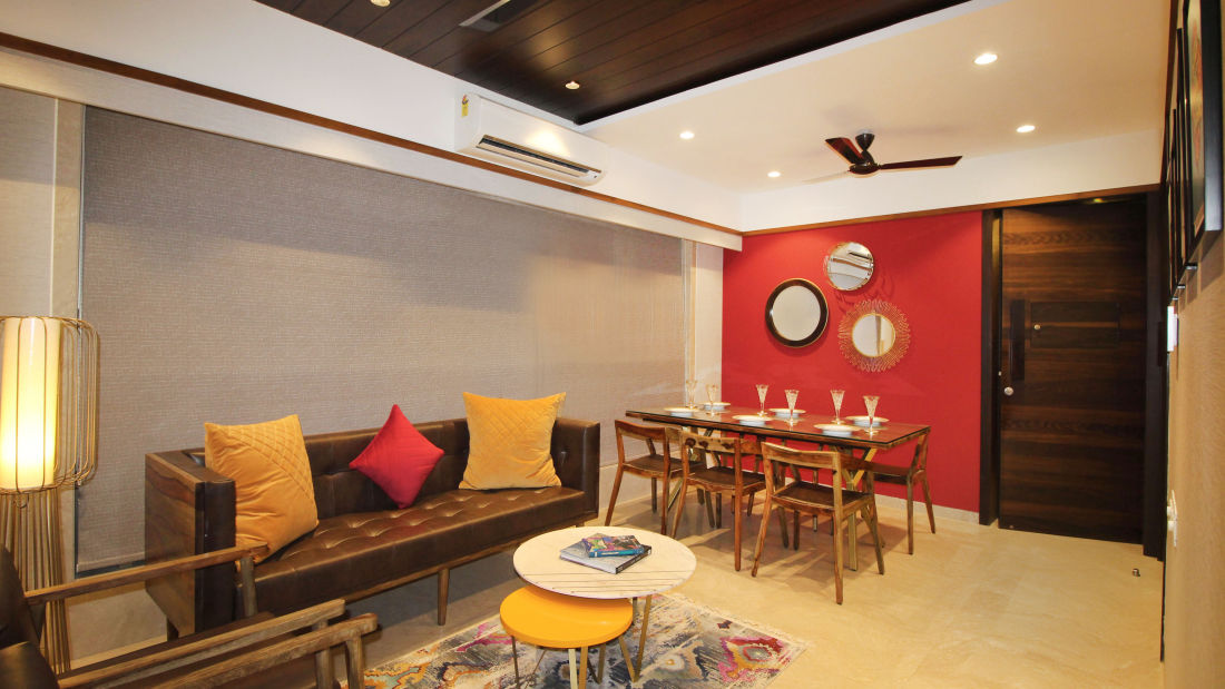 Living and dining room 1, Serviced Apartments in Khar, Mumbai, Rooms in Khar, Hotels in Khar