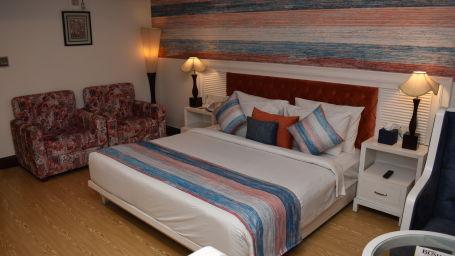 Interior of Club Suite hotel rooms in Patna