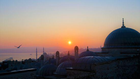 concrete-dome-buildings-during-golden-hour-2236674