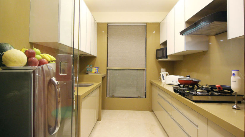 Kitchen, Serviced Apartments in Khar, Rooms in Khar, Hotels in Khar