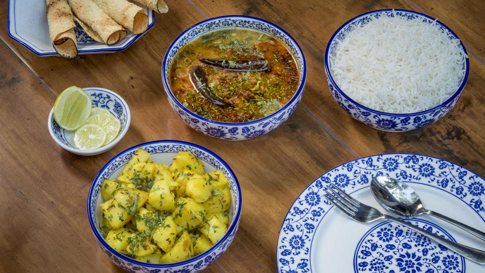 Dining at Bara Bungalow South Goa
