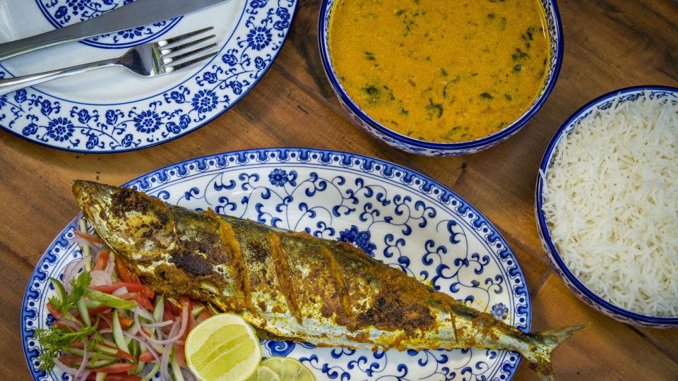 Dining at Bara Bungalow South Goa 1