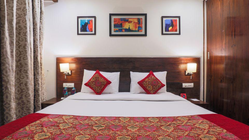 Comfortable beds at our hotel near Delhi Nehru Place, Hotel BlueStone, Nehru Place, New Delhi