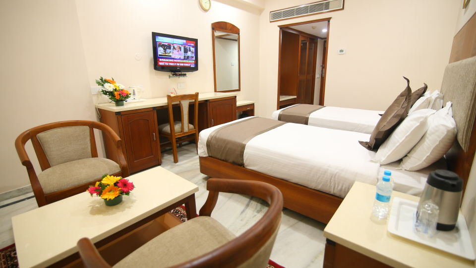 Bussiness Club Twin Beds at Hotel Daspalla Executive Court Vishakapatnam 5
