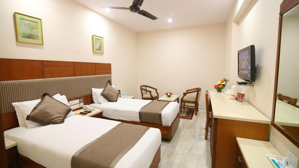 Twin Beds at Hotel Daspalla Executive Court Vishakapatnam 1