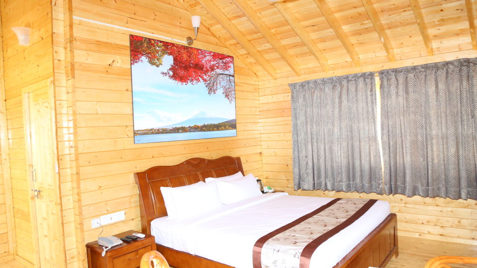 Wood House Room Kind size Bed