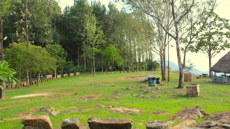 Heaven's Ledge - Campsite, Yercaud Yercaud View from Campfire Area heavens ledge campsite yercaud