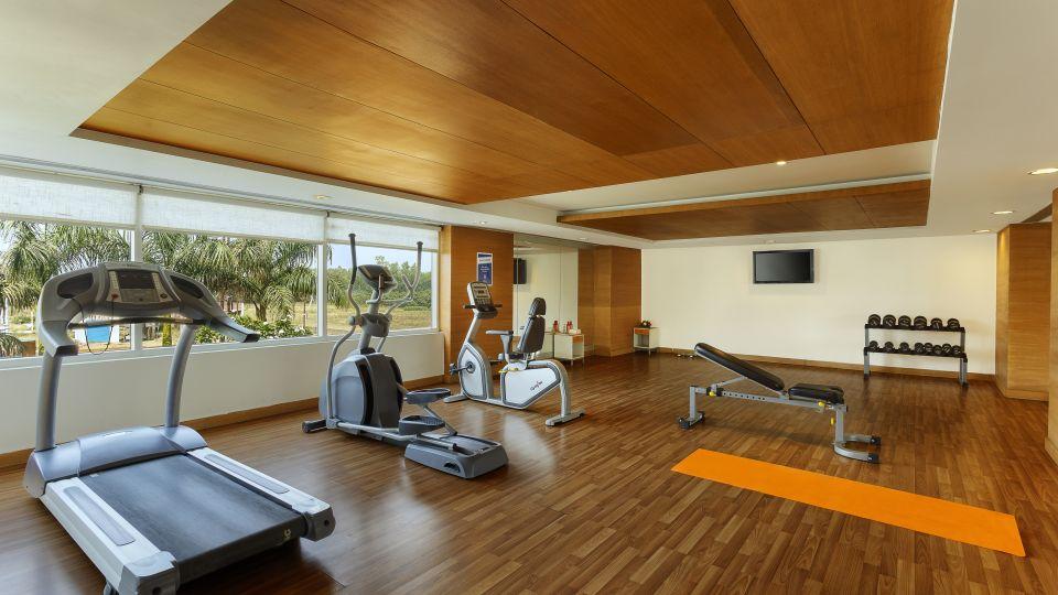 Gym at Hometel Roorkee