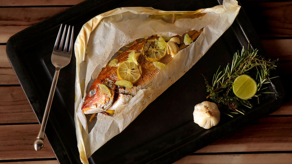 BABY RED SNAPPER EN PAPILLOTE