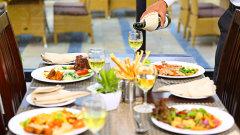 The golden Forest restaurant at The Golden Tusk Resort, Restaurants in Corbett 3