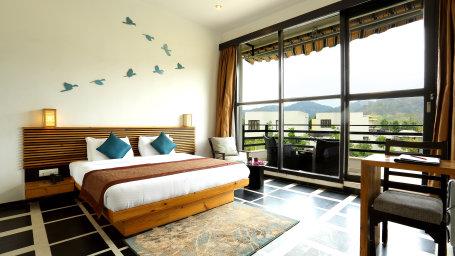 Forest View Room at the golden tusk resort ramnagar JIm corbett resorts 1