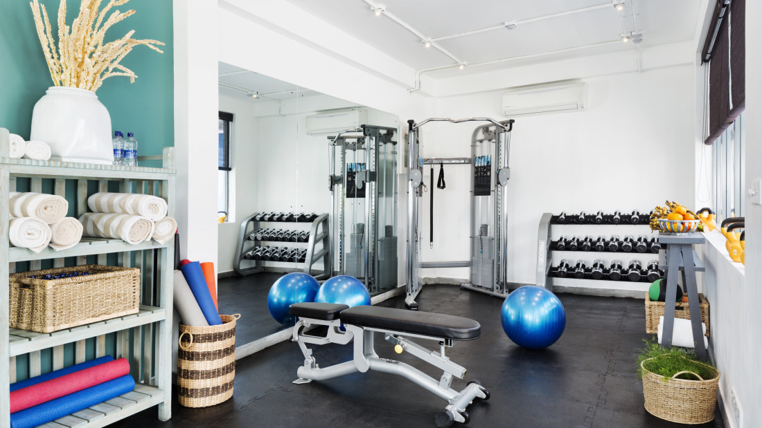 GYM at Owl and the Pussycat Hotel Restaurant in Galle, best hotel in Thalpe