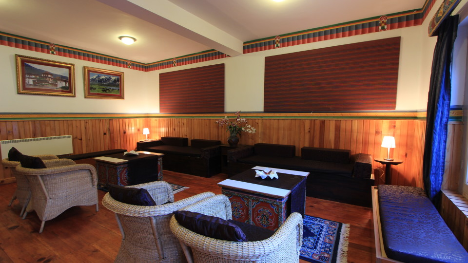 Lounge at Tashi Phuntshok Hotel Paro