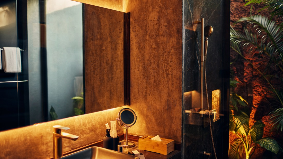 Bathroom and toiletries at the luxury villa in Goa for rent - Villa in Palms by V Escapes