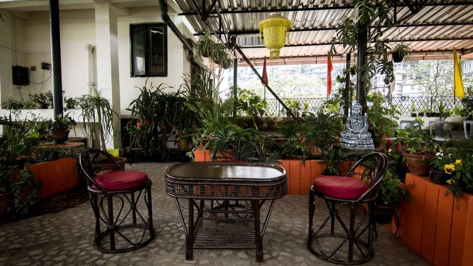 Central Hotel, Gangtok Gangtok Rooftop Garden lounge Central Hotel Gangtok Sikkim