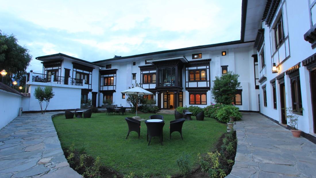 Facade of Tashi Phuntshok Hotel Paro