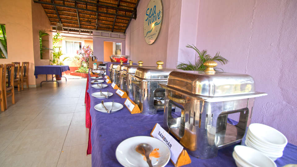Sea Wave Multi-Cuisine Restaurant in Goa at Lotus Eco Beach Resort Benaulim Goa in Benaulim 13