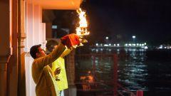 Evening Aarti Shot-The Haveli Hari Ganga Haridwar