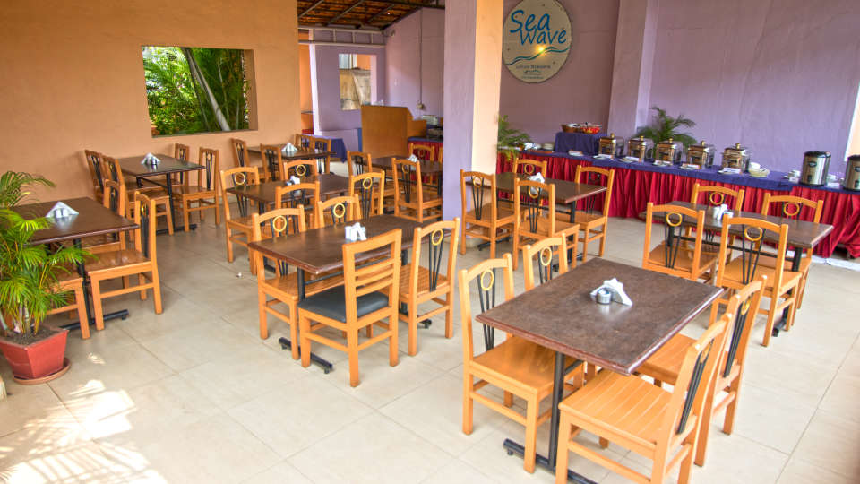 Sea Wave Multi-Cuisine Restaurant in Goa at Lotus Eco Beach Resort Benaulim Goa in Benaulim 14