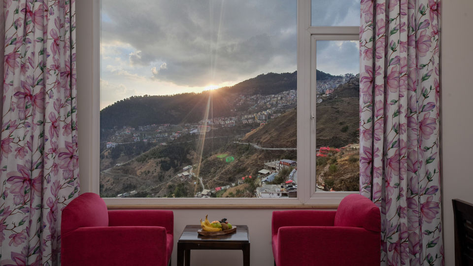 Hill view from the Premier Rooms at our Luxury 5-star hotel in Shimla
