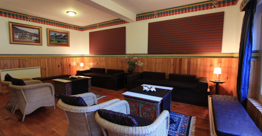 alt-text Lounge at Tashi Phuntshok Hotel Paro