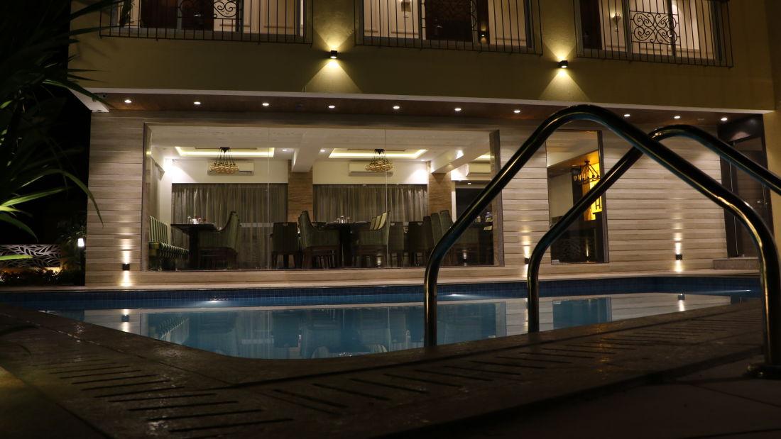 Pool Area  at AMARA GRAND INN CALANGUTE, Resort near Calangute Beach, Goa beach resort