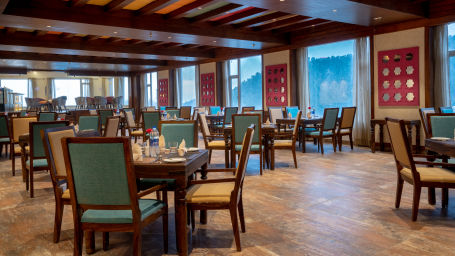 Cafe Vindhyas restaurant at our Luxury 5 star Hotel in Shimla
