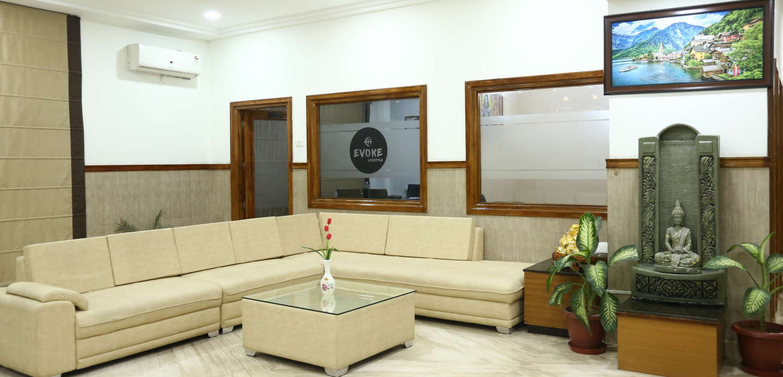 Hotels near katra railway station, evoke lifestyle, Evoke hotel Lobby