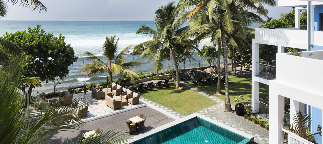 OTP Pool Deck of Owl and the Pussycat hotel and restaurant in thalpe, hotel in Thalpe, hotel in Galle
